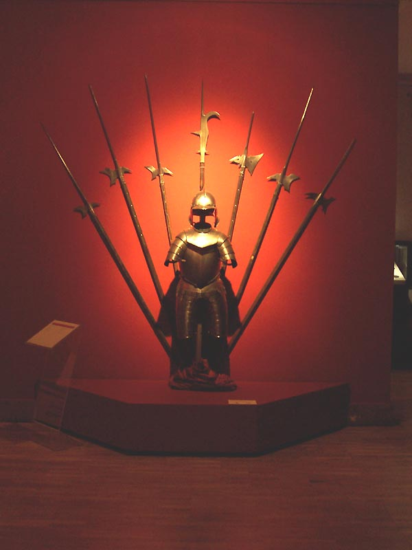 The hall of armours and weapons