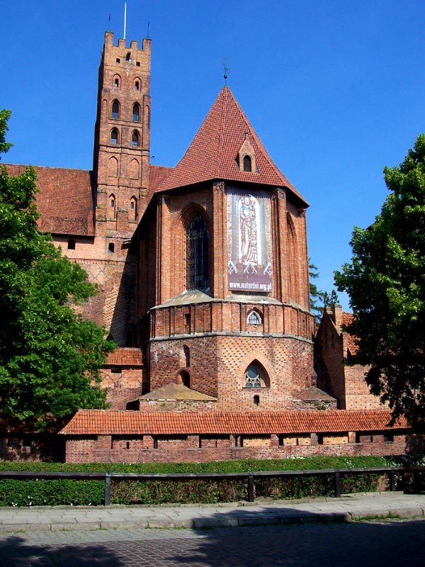 Malbork. Here a big icon of Saint Mary was located. It will be restored soon.