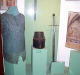 In the castle museum. The Teutonic knight armour.